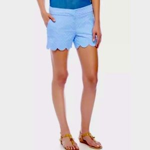 Crown & Ivy Scalloped Shelby Shorts in Peri sz16